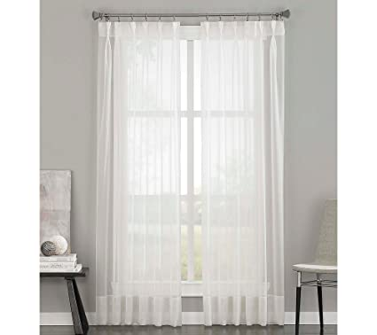 Curtainworks Soho Voile Sheer Pinch Pleat Curtain Panel, 29 By 120u0026quot;,  ...