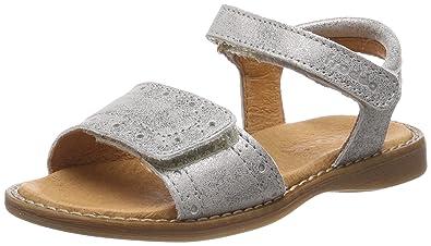 ee3b50328ff0c9 Froddo Girls G3150114-7 Heels Sandals Silver Size  9 UK