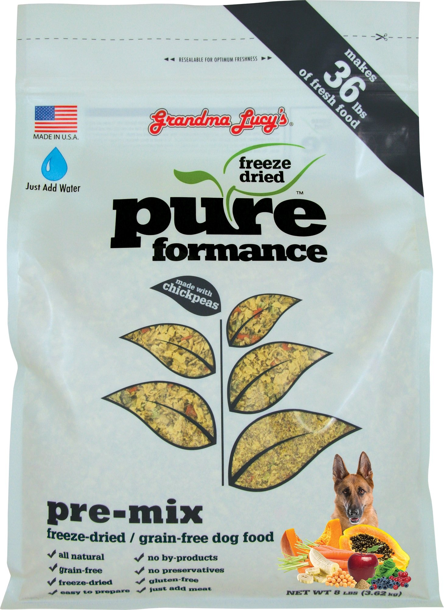 Grandma Lucy's Freeze-Dried Grain-Free Pet Food: Pureformance Pre-Mix 8lbs