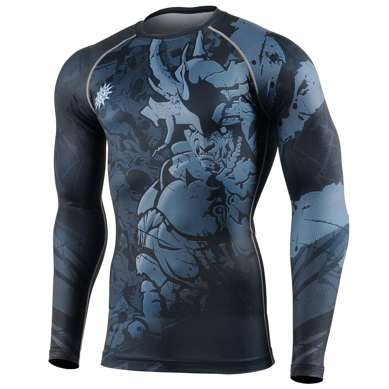 Fixgear Rashguard Fitness Shirt Langarm Kampfsport Boxen Ski Compression Laufen