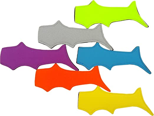 1 Set 8 Pcs Shark Popsicle Holders Pop Ice Sleeves Freezer Pop Holders 21x8cm