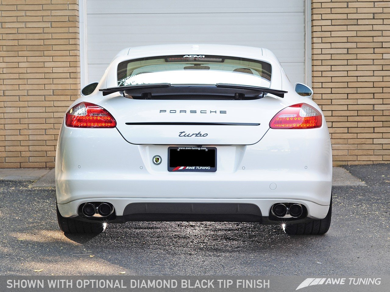 AWE Tuning 3010-42024 Panamera Turbo Performance Exhaust System Track Edition Polished Silver Tips
