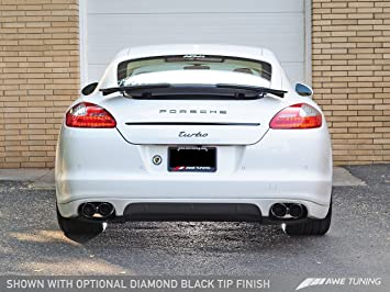 AWE Tuning 3010-43022 Panamera Turbo Performance Exhaust System (Track Edition Diamond Black Tips