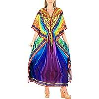 HAPPY BAY Mujeres caftán túnica 3D HD Impreso Kimono Libre tamaño Largo Abaya Vestido Jalabiyas de