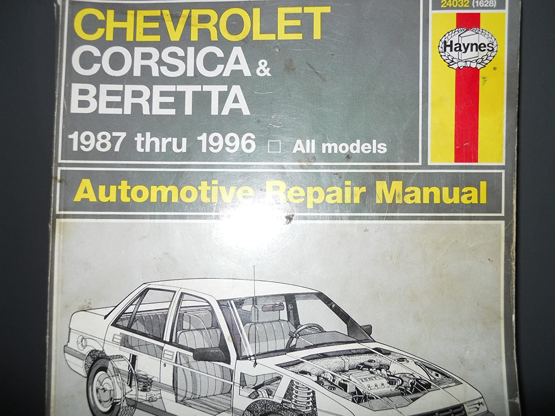 Amazon.com : Haynes chevrolet repair manual book Auto vehicles corsica  beretta manuals books : Everything Else