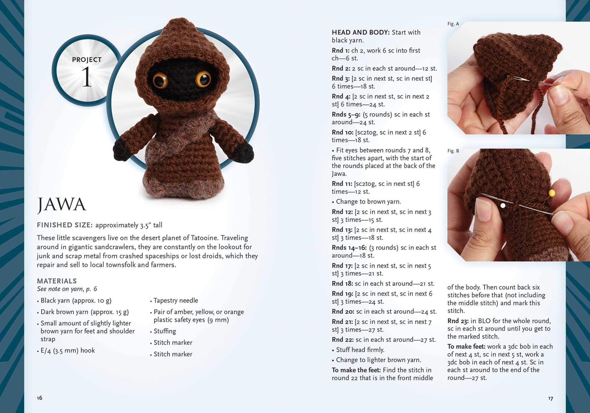 10+ Star Wars Yoda Crochet Patterns | 1400x2000
