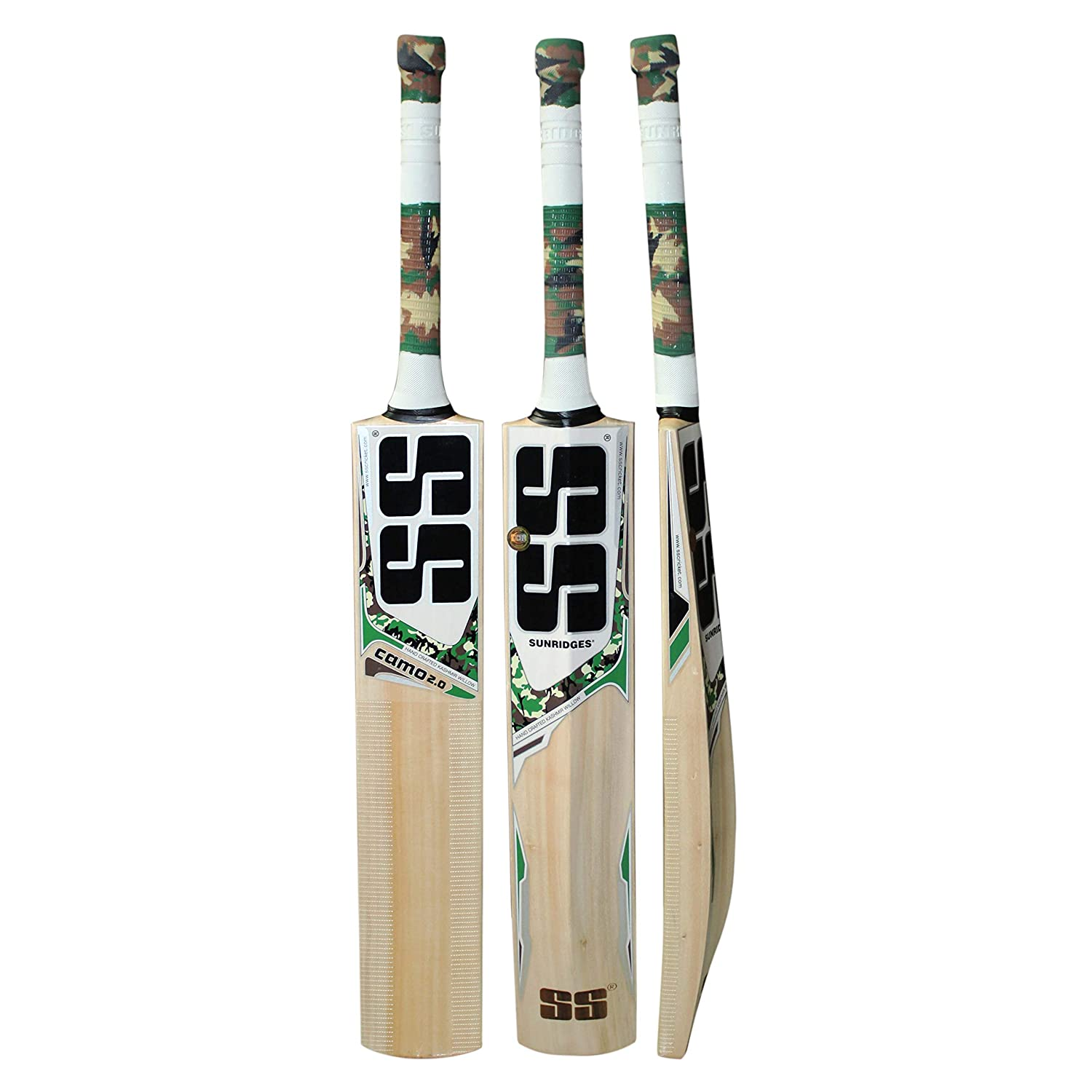 9ddd9f2ae48 SS Ton Camo 2.0 Kashmir willow full size cricket bat for leather ball use