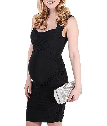 KRISP Vestido Embarazada Fiesta Corto Premamá Ropa Boda Ajustado Rodilla: Amazon.es: Ropa y accesorios