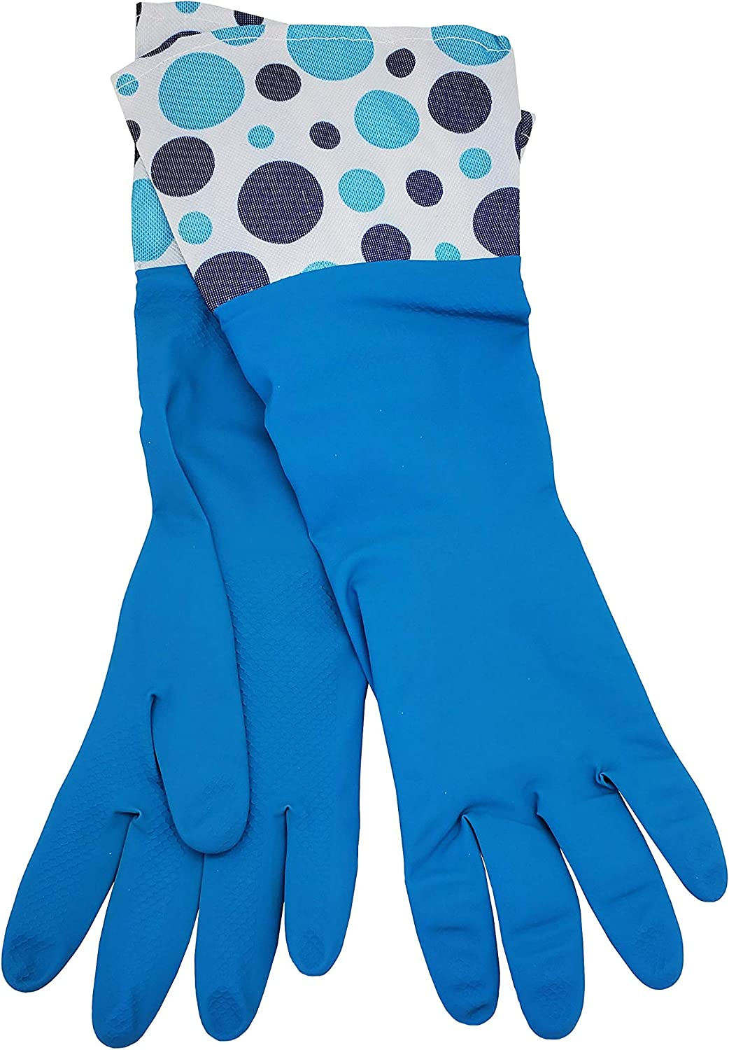 LANON Wahoo PVC Household Cleaning Gloves Non-Slip Small Reusable Unlined Dishwashing Gloves