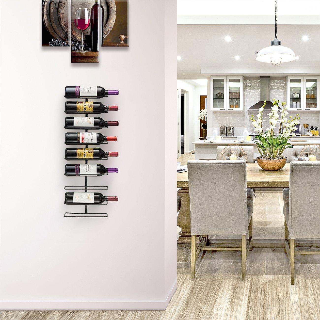 Holds 9 Bottles Home Decor Sorbus Wall Mount Wine Rack