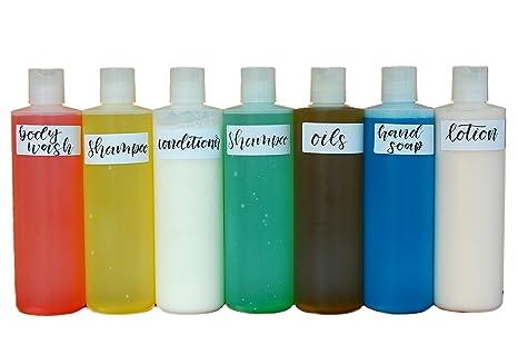 Amazon.com: Bono 7 pack Squeeze Botella de plástico 16 oz ...