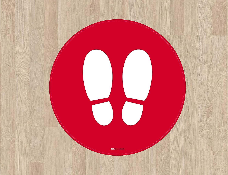 arancione 30 x 30 cm personalizzati con il tuo nome o logo stickers floor label Emergenza sanitaria Covid 19 Adesivi please stop here calpestabili antiscivolo 5 pz