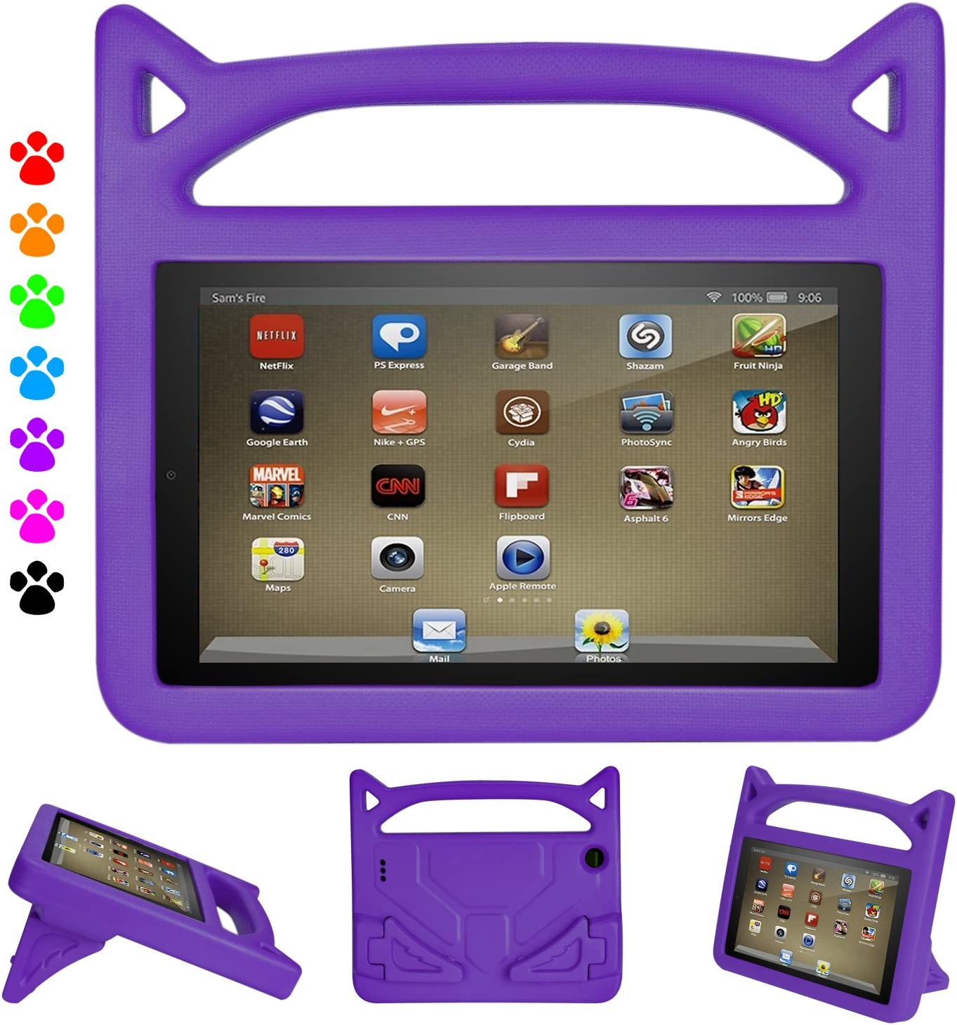 2019 7 inch Tablet Case-Auorld Light Weight Kids Friendly Protective Case Cover for 7 inch Tablet 2019&2017&2015