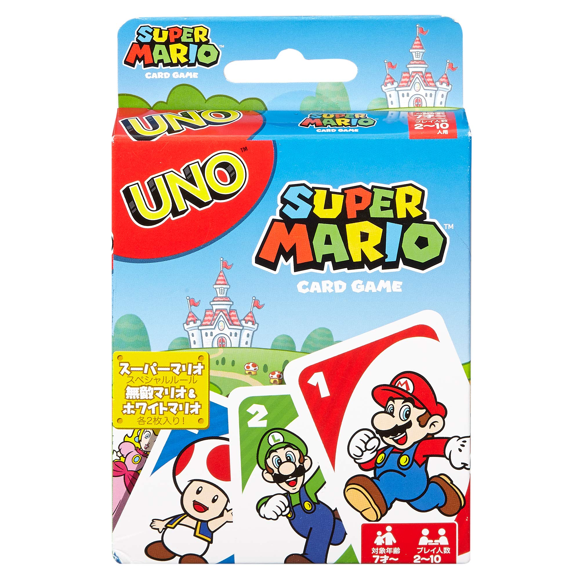 Eag UNO Super Mario Card Game Classic Match Two Customizable Kids Adults Gaming