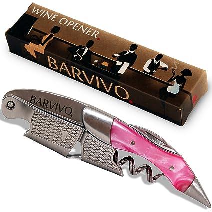 Sacacorchos para meseros profesionales de BARVIVO – Destapador usado por meseros, sommeliers y barmans del mundo para abrir botellas de cerveza y ...