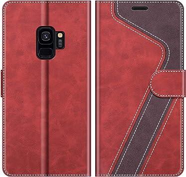 MOBESV Coque pour Samsung Galaxy S9, Housse en Cuir Samsung Galaxy S9, Étui Téléphone Samsung Galaxy S9 Magnétique Etui Housse pour Samsung Galaxy S9, ...