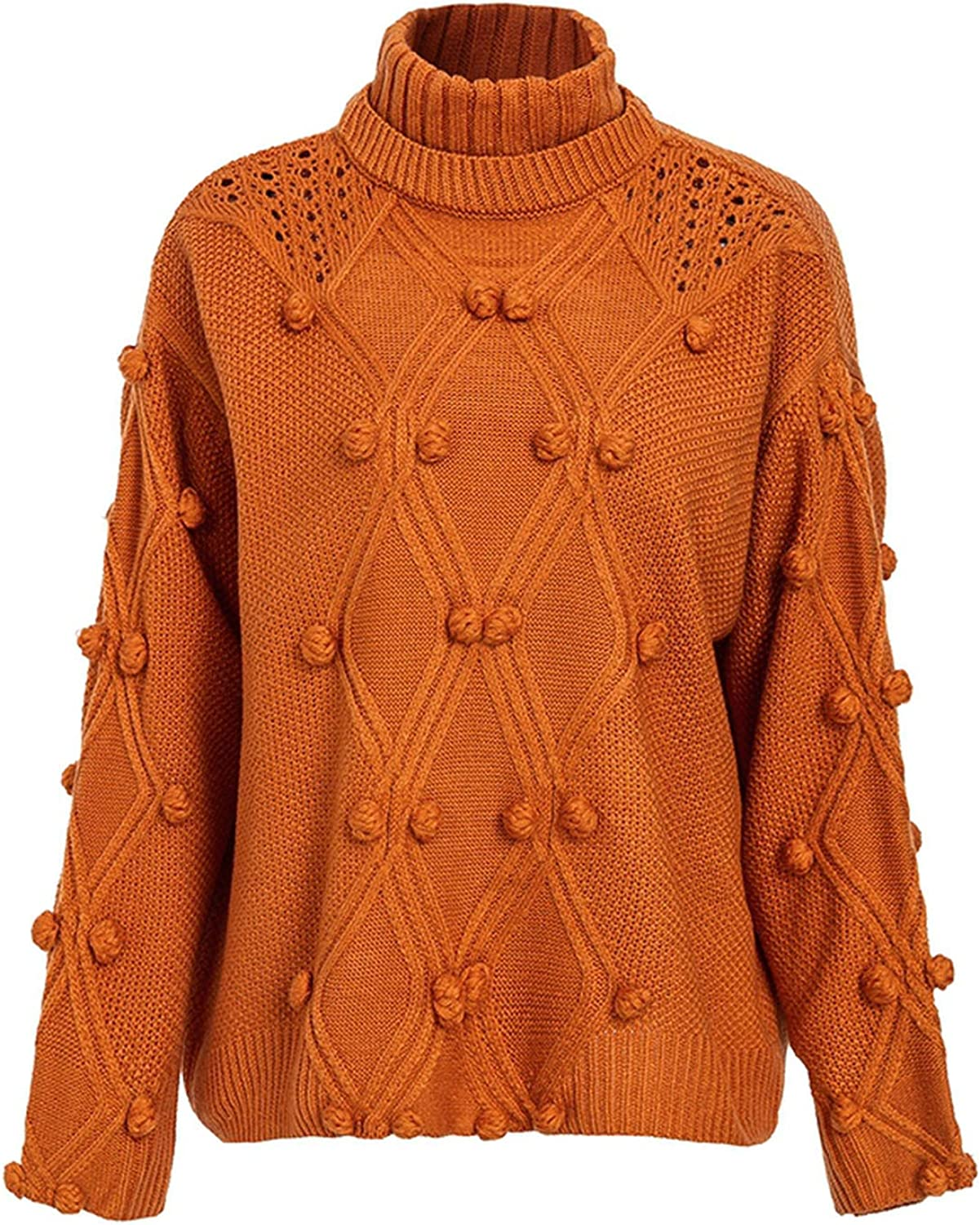sensitives Turtleneck Sweater Women Pullover Hollow Out Knitted Sweaters Autumn Winter Fashion Jumpers
