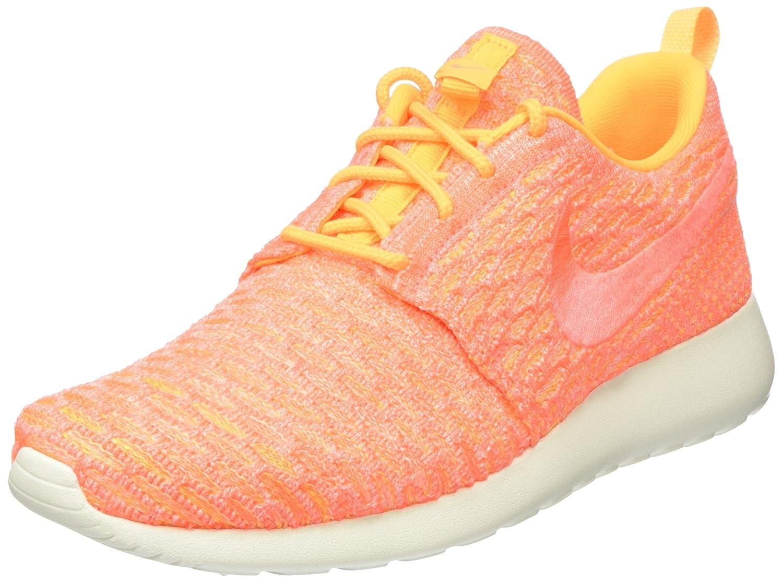 Nike Damen Roshe One Flyknit Turnschuhe Laser Orange Bright Mango-Sail) 40.5 EU