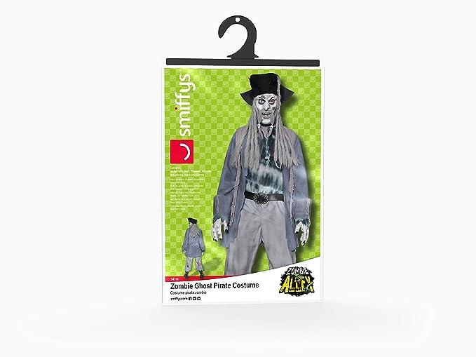 Smiffys Disfraz de pirata zombi, con parte de arriba, pantalón, sombrero, pelo rastafari: Smiffys: Amazon.es: Juguetes y juegos