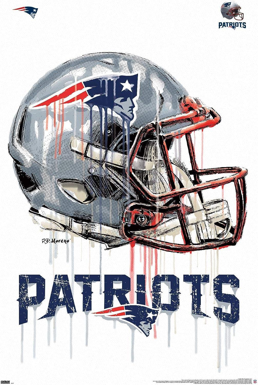 Trends International NFL New England Patriots - Drip Helmet 20 Wall Poster, 14.725
