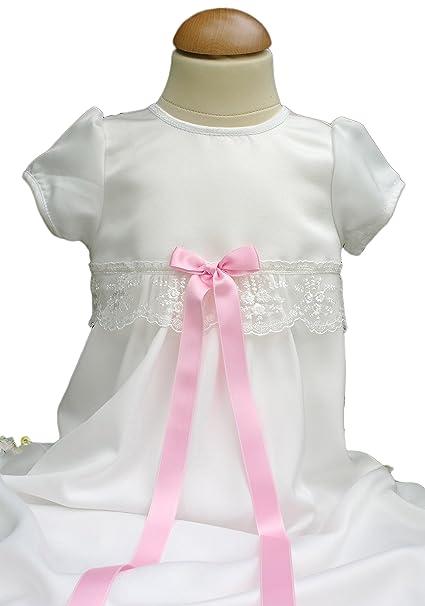 Bautizo Vestidos de novia en color marfil de satén de tul encaje y manga corta de