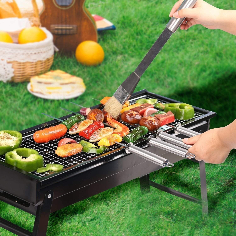 Biuday 1Pc Reutilizable Antiadherente BBQ Grill Roast Mat Portable Picnic al Aire Libre para cocinar barbaco Parrillas el/éctricas