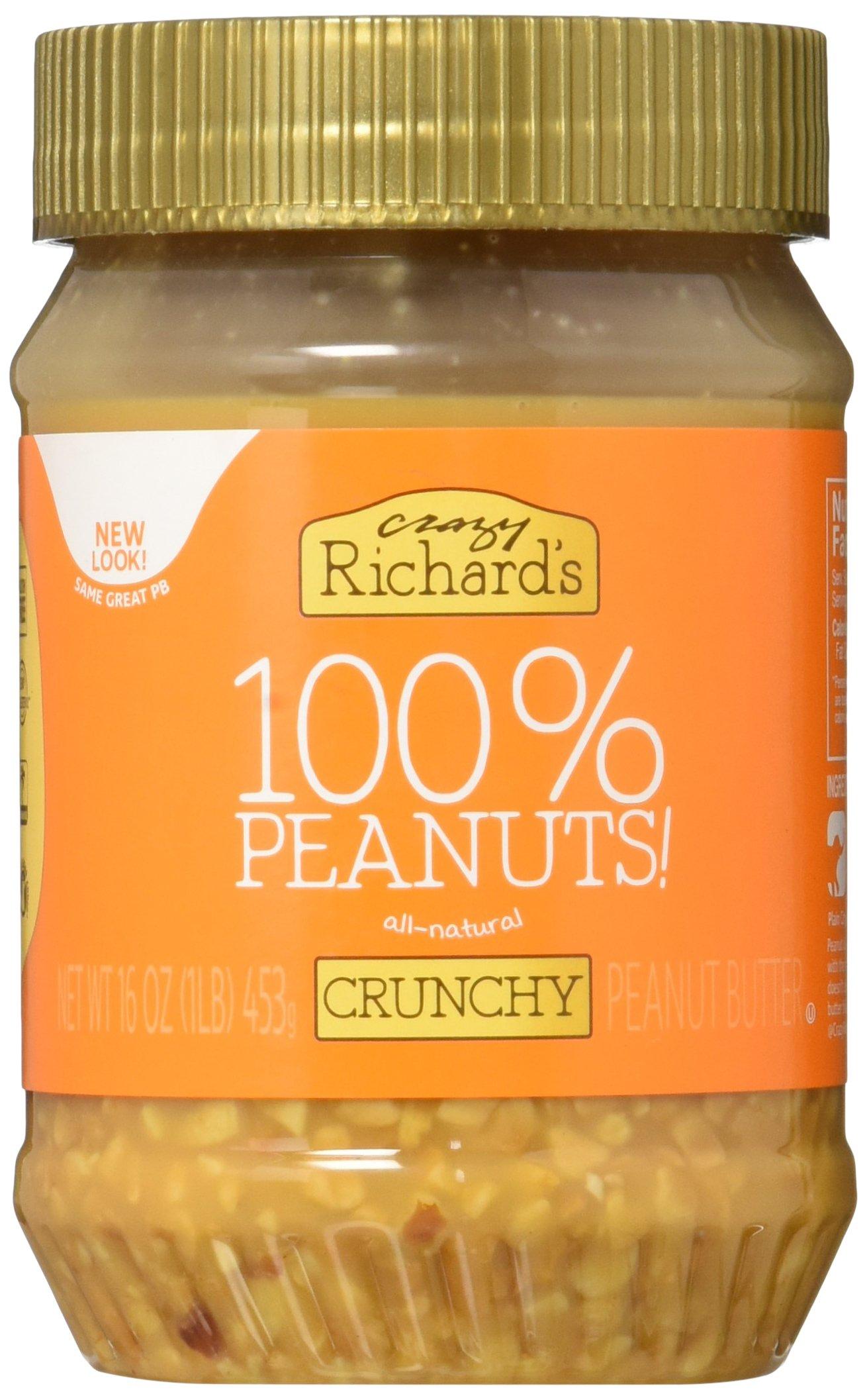 Crazy Richards 100% Natural Crunchy Peanut Butter - 16oz Jar
