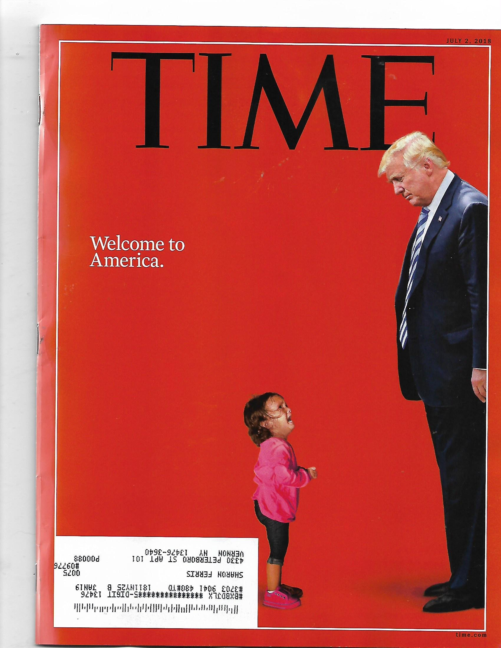 Read Online Time magazine July 2 2108 {trump/Child Cover}{ Postal label on front} pdf