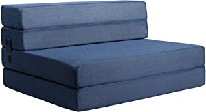 Milliard Tri-Fold Foam Folding Mattress and Sofa Bed