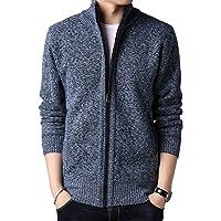 WSLCN casaco masculino outono inverno quente grosso zíper gola alta moletom moletom pulôver jaqueta cardigã para uso…