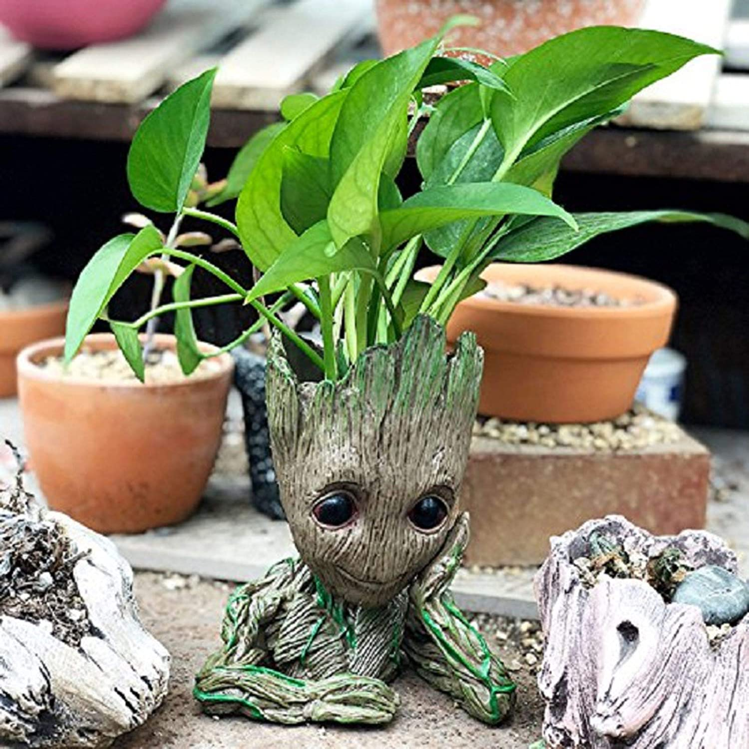 Decorative Indoor Action Hero for Children Great Toy Gift 5.5in shake beauty Baby Flowerpot Guardians of Cute Model Toy with Pen Pot Holder