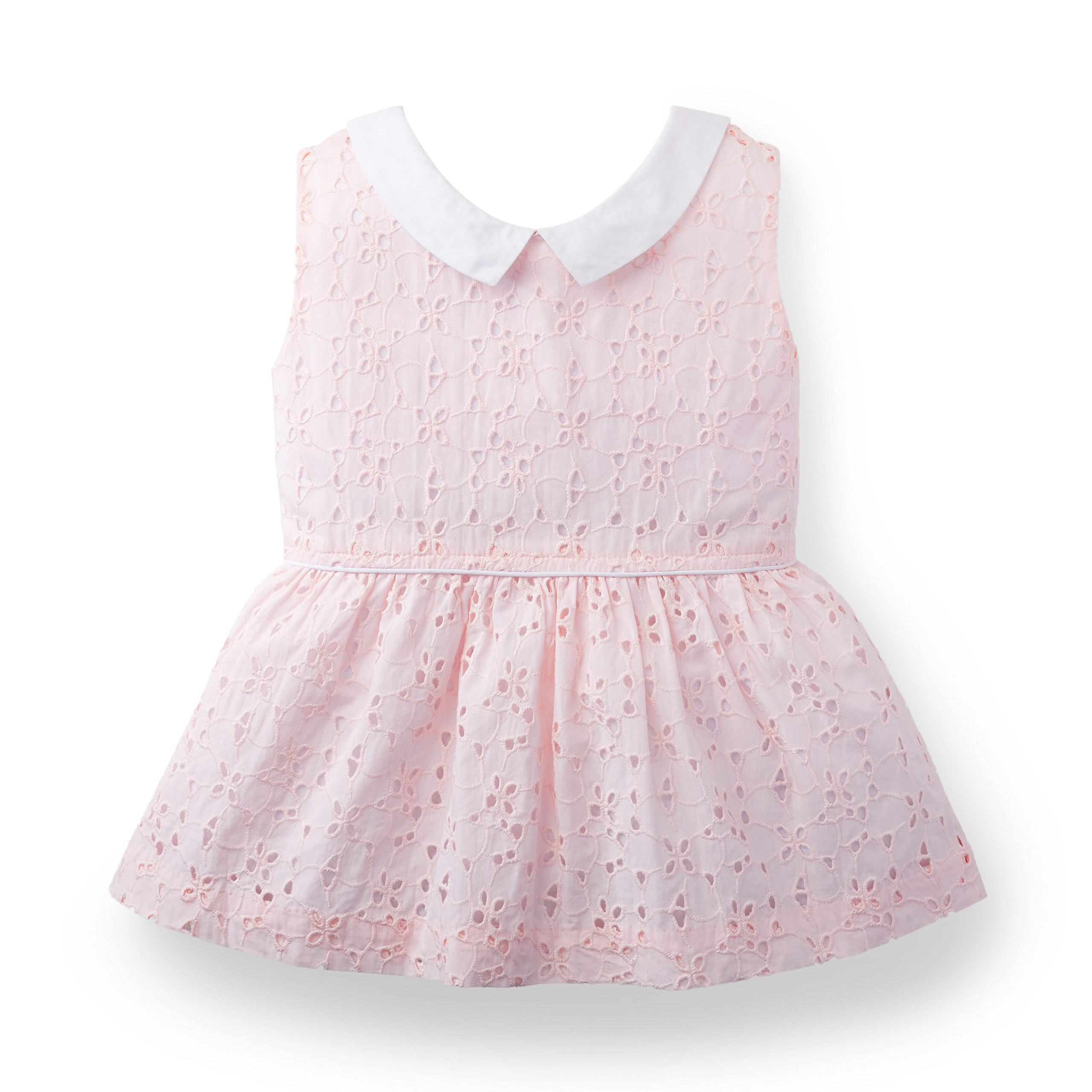 Hope & Henry Girls Eyelet Top Made With Organic