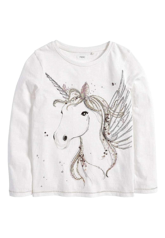 next Bambine E Ragazze Maglia A Maniche Lunghe Unicorno Paillettes