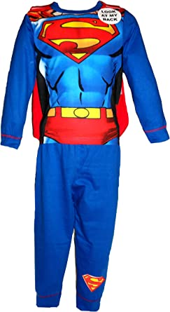 Superman Caped Hero Niños Pijamas 3-4 años