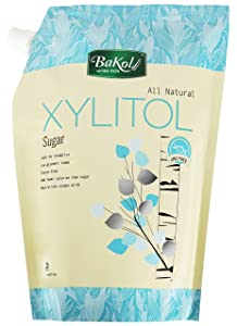 BaKol Natural Xylitol Sweetener, Non-GMO Keto Friendly Sugar Substitute with Easy Pour Packaging, Kosher, and Gluten Free, Granulated Sugar Alternative for Coffee, Tea, Baking (5lb)