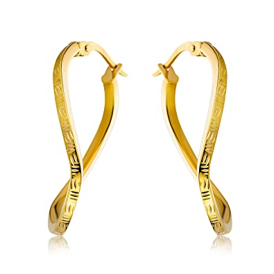 Miore Earrings Women Hoops Yellow Gold 9 Kt/375 3EDXXGNViS