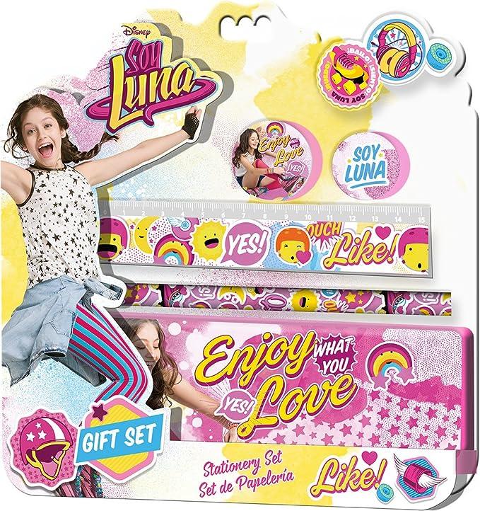 Soy Luna Blíster de papelería con 5 Piezas y Estuche, Unica (Kids Euroswan WD18031): Amazon.es: Juguetes y juegos