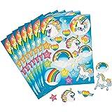 Unicorn Rainbow Sticker Sheets by Fun Express, 2 Dozen
