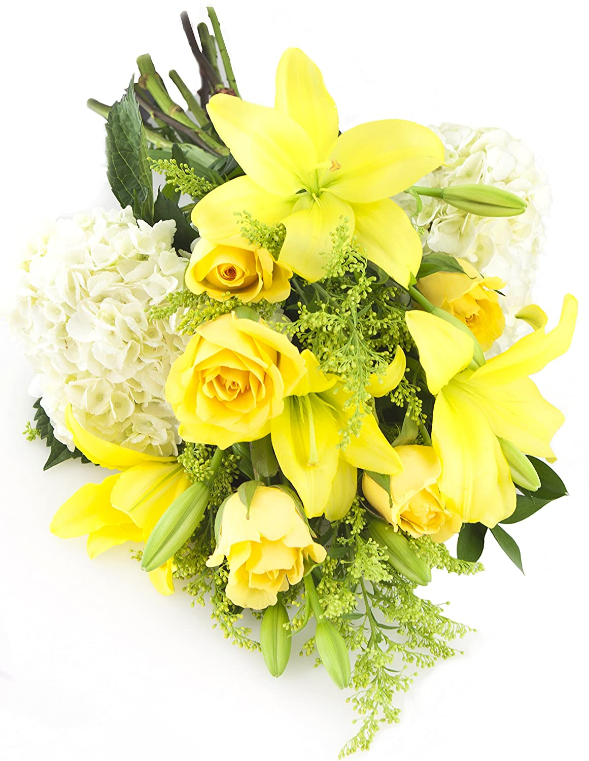 Amazon Bouquet Of Yellow Roses Yellow Lilies White