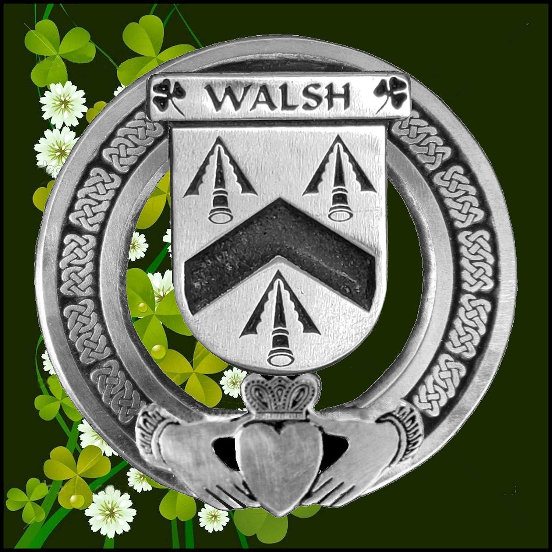 Carr Irish Claddagh Coat of Arms Plaid brooch ~ Emerald stones