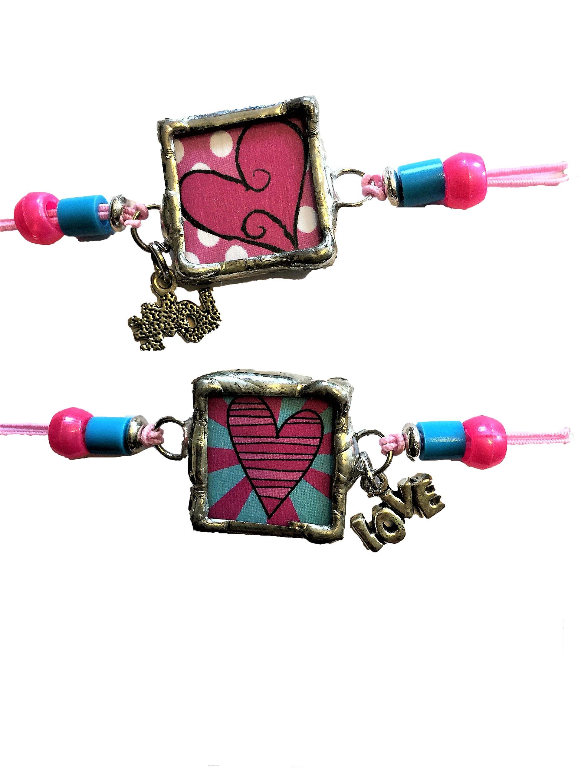 Amy Catherine Designs Hearts & Love Stretch Charm Bracelet