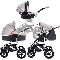 bebebi | Modello myVario | Passeggino combinato 3in 1| con pneumatici in gomma dura