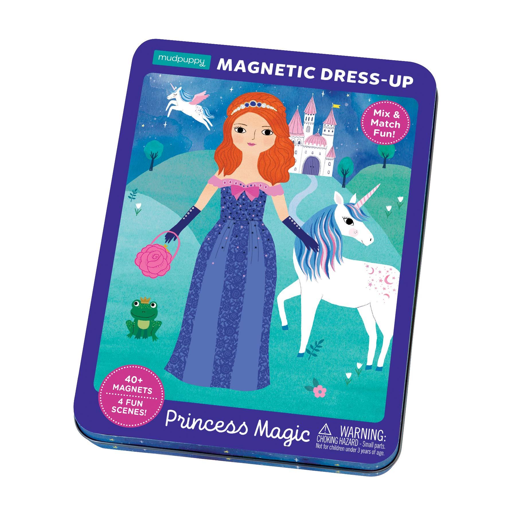 Mudpuppy 9780735357679 Princess Magic Magnetic Dress-Up, Multicolor by Mudpuppy