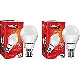 Eveready Base B22 9-Watt LED Bulb (Pack of 2, Cool Day White Light)