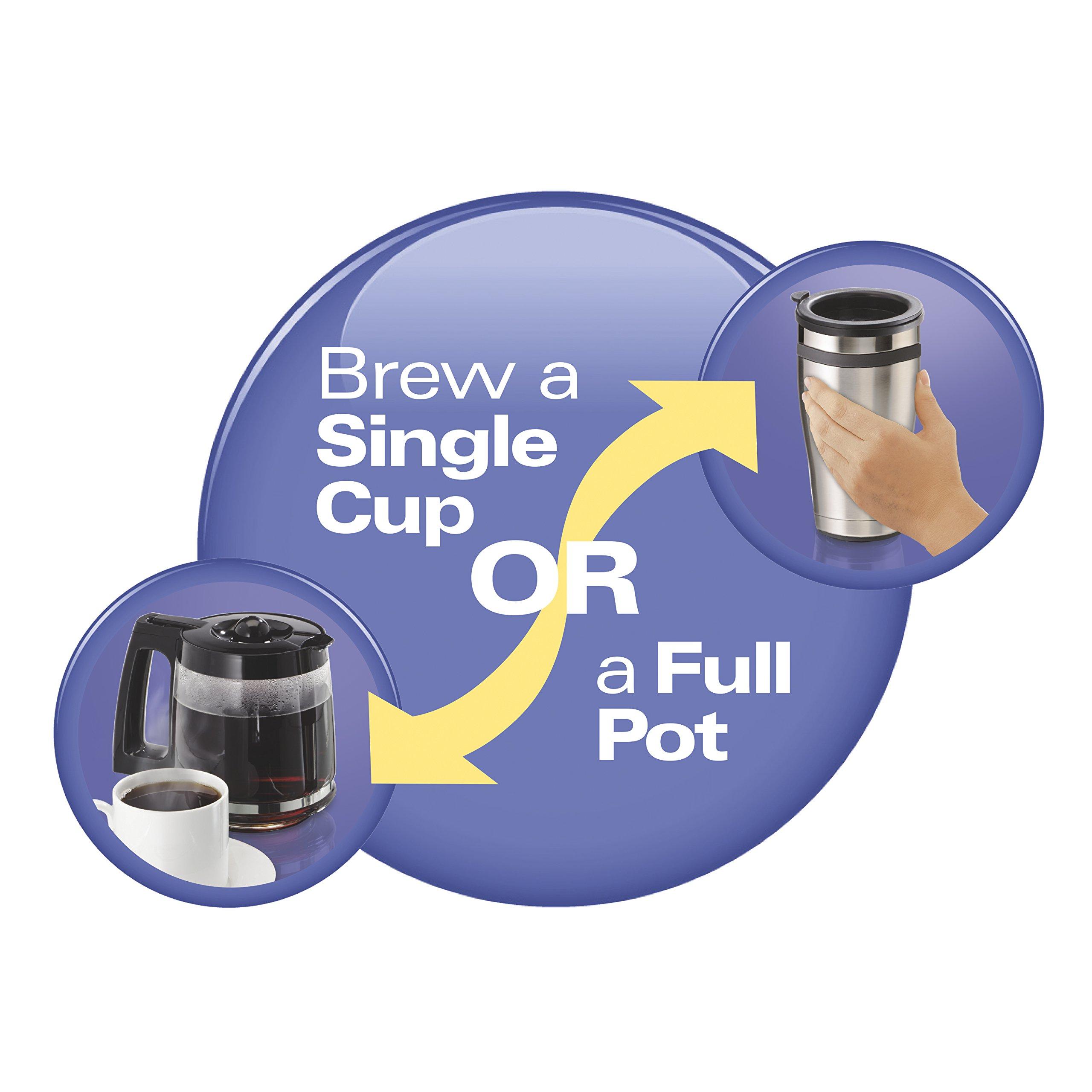 Hamilton Beach 49950C Flexbrew 2-Way Brewer Programmable Coffee Maker, Black by Hamilton Beach (Image #2)