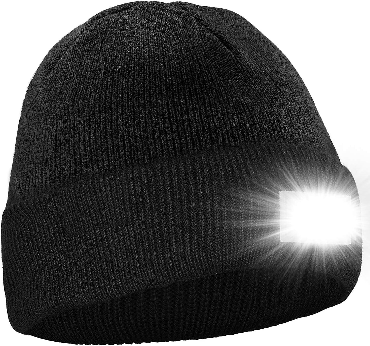 Ultra weicher LED Beanie Hut beleuchtet Hände frei Scheinwerfer Cap