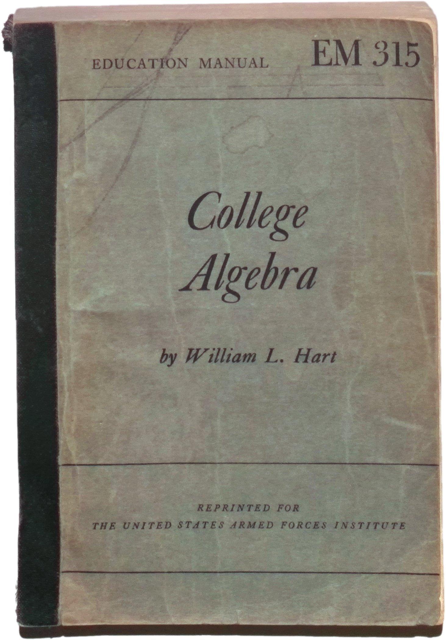 college algebra by william hart fourth edition