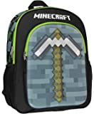 "Minecraft Backpack 16"" 3D Molded Pickaxe School Bag"