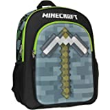 """Minecraft Backpack 16"""" 3D Molded Pickaxe Bag"""