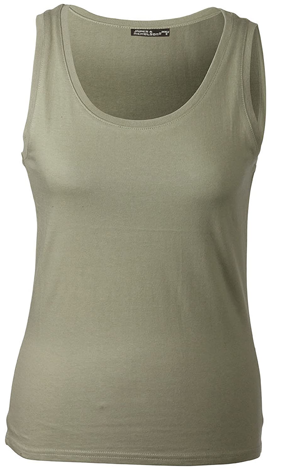 LADIES CLASSIC COTTON VEST TANK TOP IN 13 COLOURS AND SIZES 34-46 J/N